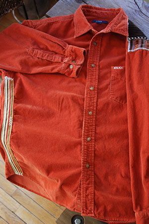 Red Notch Recycled Patched Clothing